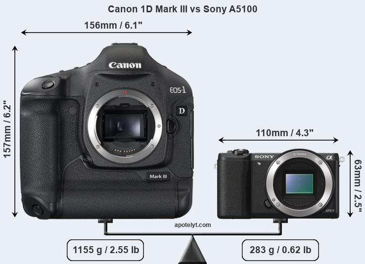 Compare Canon 1D Mark III and Sony A5100