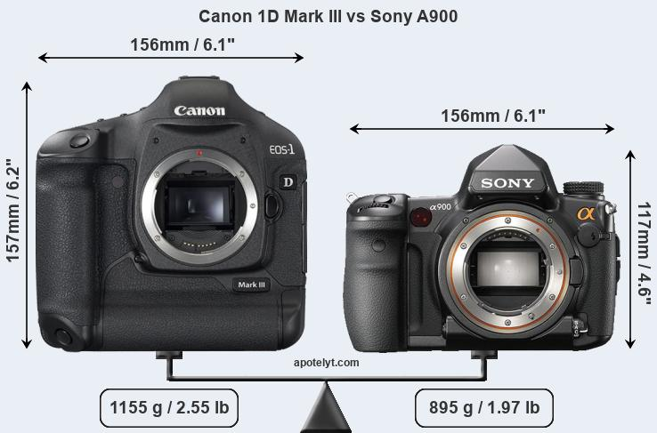 Compare Canon 1D Mark III vs Sony A900