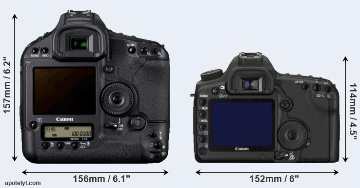 1D Mark IV and 5D Mark II rear side