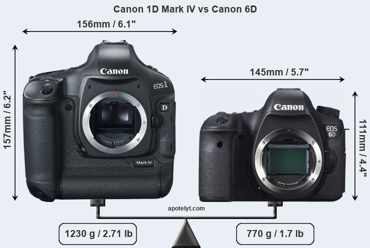 Canon 1d Mark Iv Vs Canon 6d Comparison Review