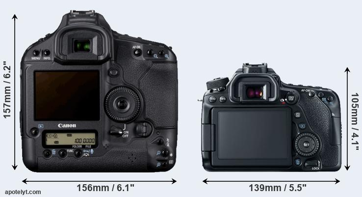 1D Mark IV and 80D rear side