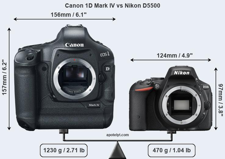 Compare Canon 1D Mark IV and Nikon D5500