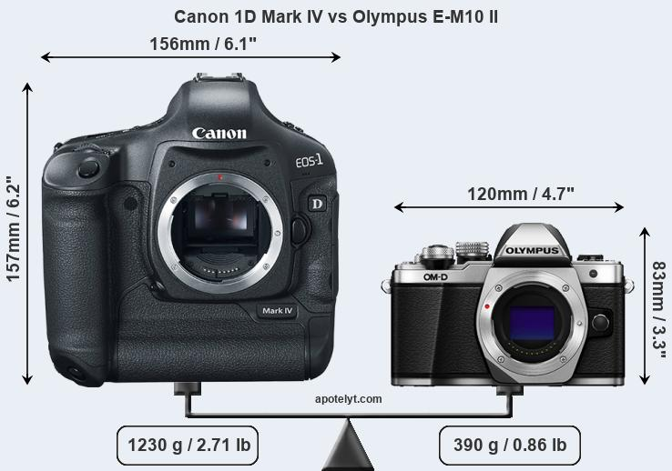 Compare Canon 1D Mark IV and Olympus E-M10 II
