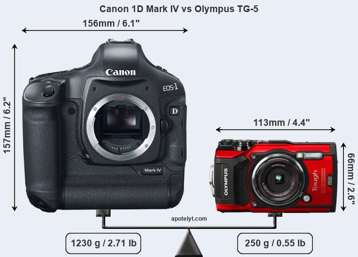 Compare Canon 1D Mark IV and Olympus TG-5
