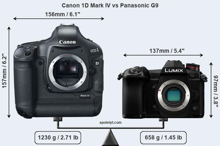 Compare Canon 1D Mark IV and Panasonic G9