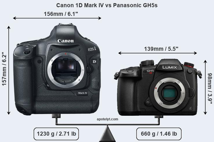 Compare Canon 1D Mark IV and Panasonic GH5s