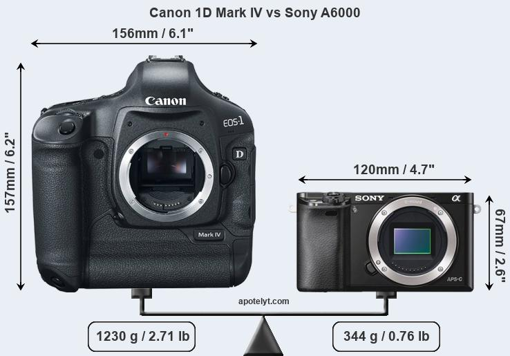 Compare Canon 1D Mark IV and Sony A6000