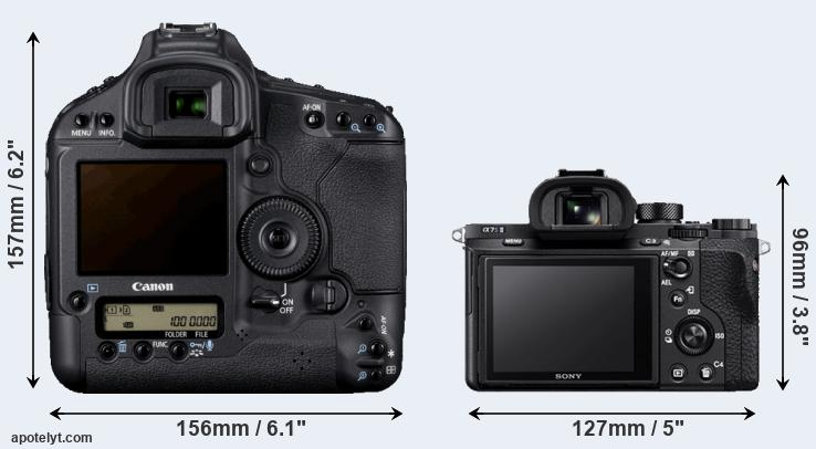 1D Mark IV and A7S II rear side