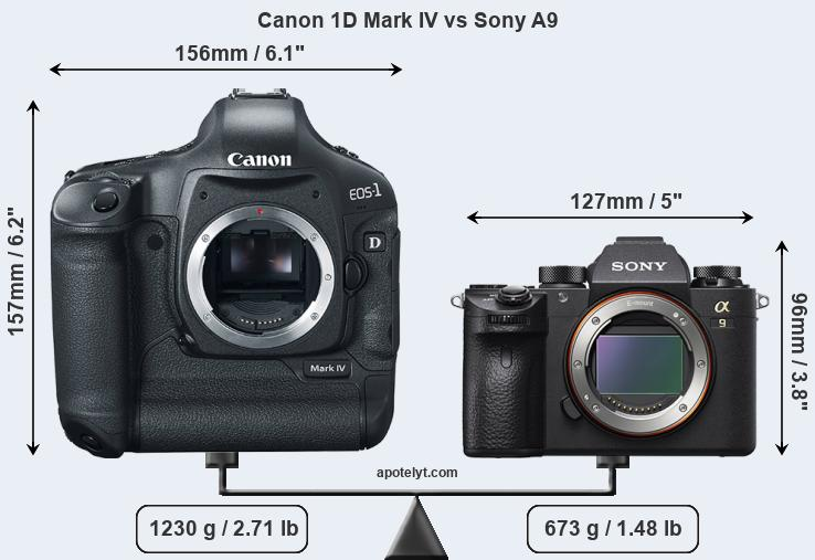 Canon 1D Mark IV vs Sony A9 front