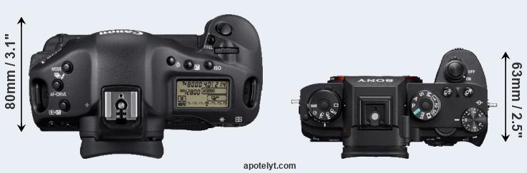 1D Mark IV versus A9 top view