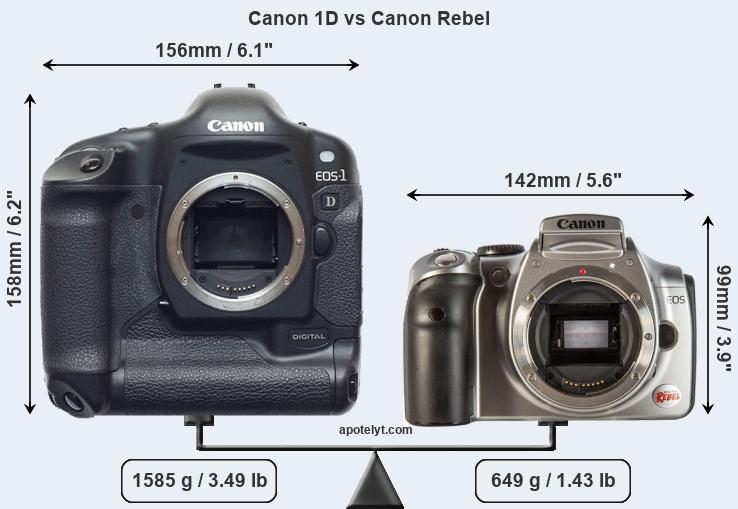 Compare Canon 1D vs Canon Rebel