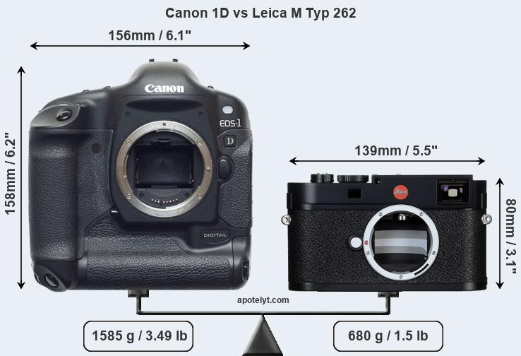 Size Canon 1D vs Leica M Typ 262