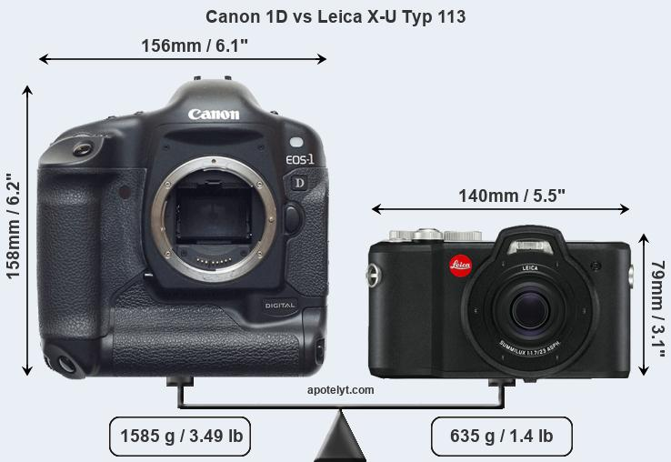Compare Canon 1D and Leica X-U Typ 113
