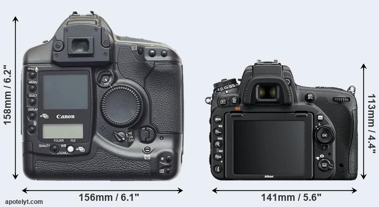 1D and D750 rear side