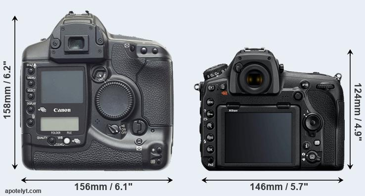 1D and D850 rear side