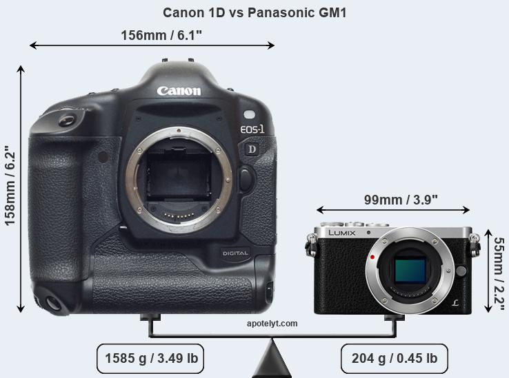 Compare Canon 1D and Panasonic GM1