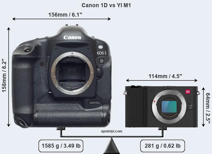Compare Canon 1D and YI M1
