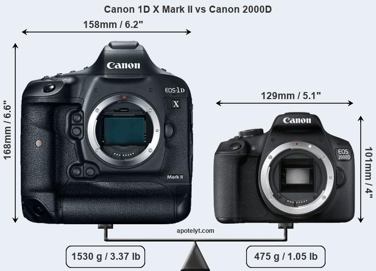 Compare Canon 1D X Mark II vs Canon 2000D