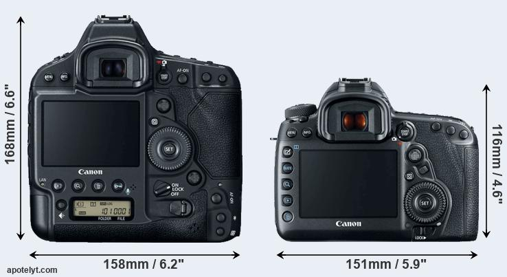 1DX Mark II and 5D Mark IV rear side