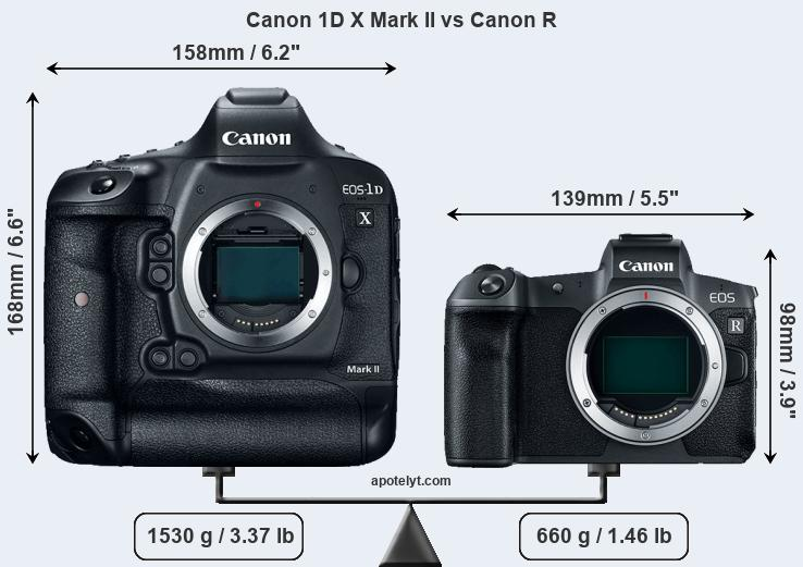 Compare Canon 1D X Mark II and Canon R
