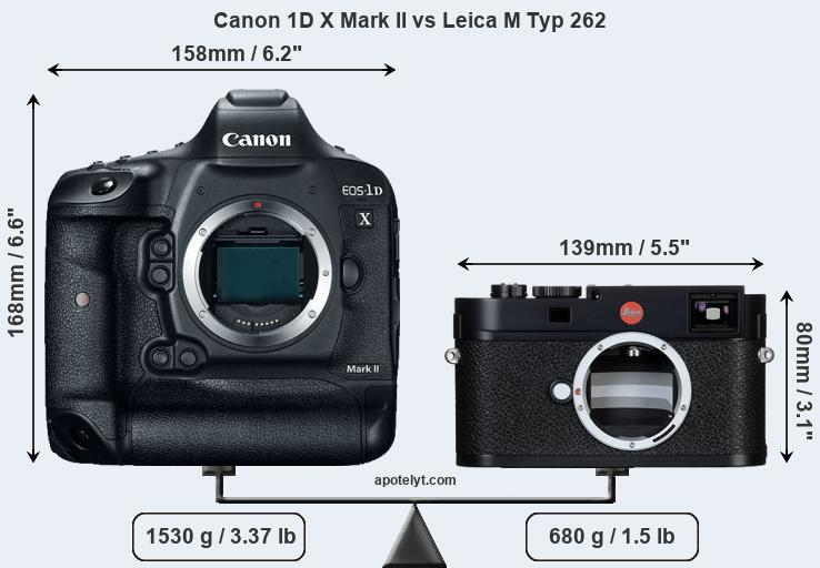 Compare Canon 1D X Mark II and Leica M Typ 262