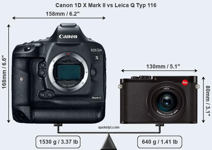 Compare Canon 1D X Mark II and Leica Q Typ 116