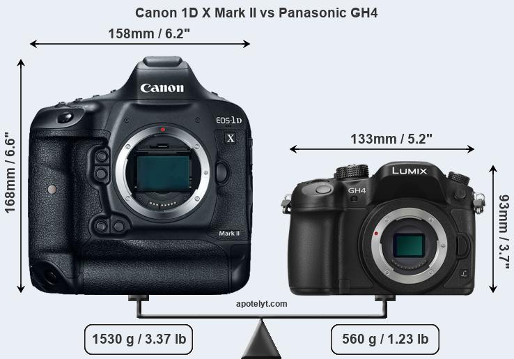 Compare Canon 1D X Mark II and Panasonic GH4