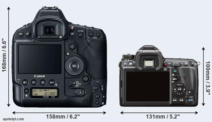 1DX Mark II and K-3 II rear side