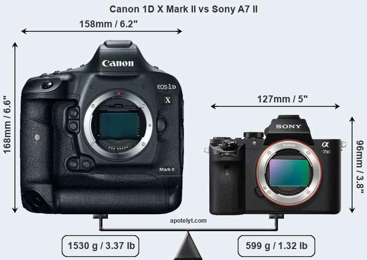 Compare Canon 1D X Mark II and Sony A7 II