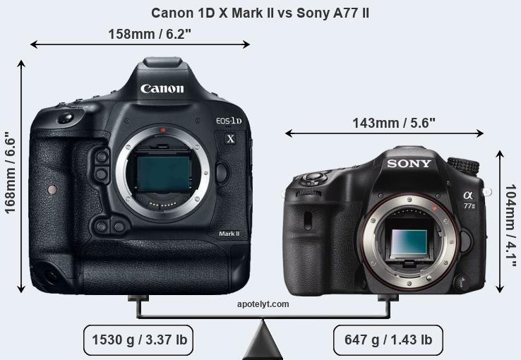 Compare Canon 1D X Mark II and Sony A77 II