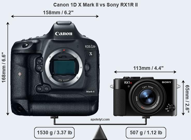 Compare Canon 1D X Mark II and Sony RX1R II