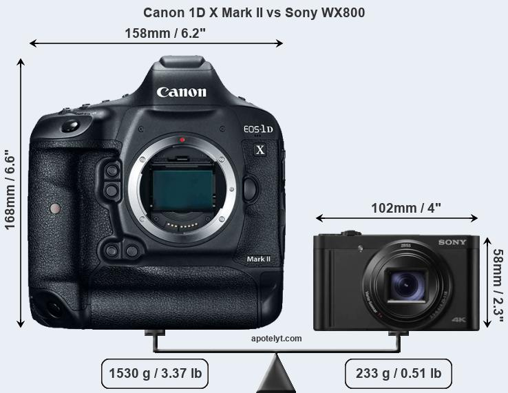 Compare Canon 1D X Mark II and Sony WX800