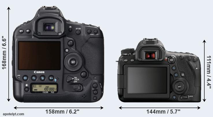 1DX and 6D Mark II rear side