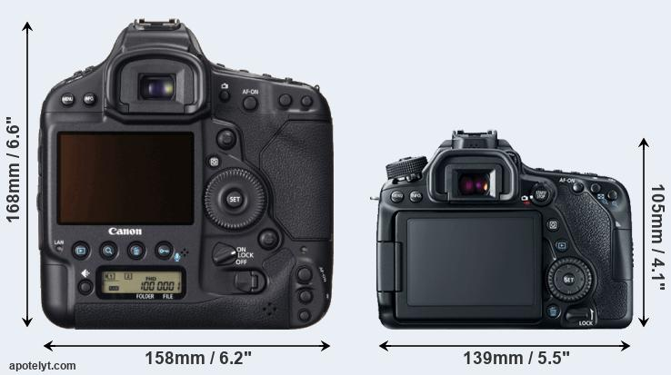 1DX and 80D rear side
