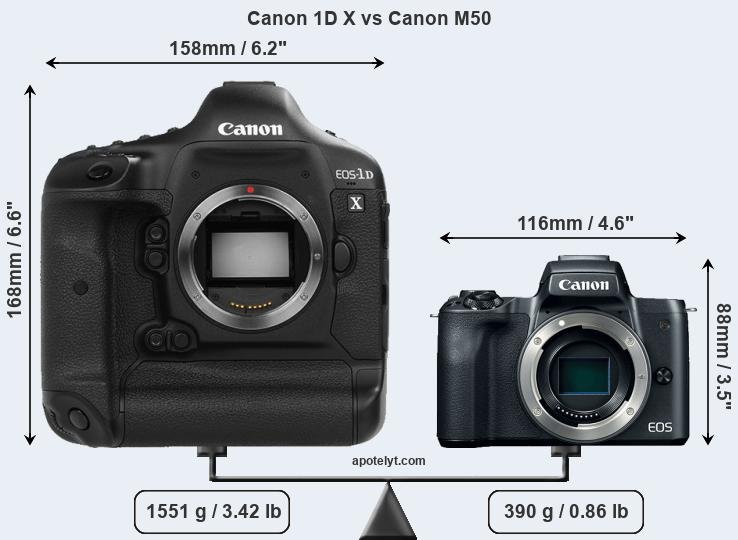 Compare Canon 1D X and Canon M50