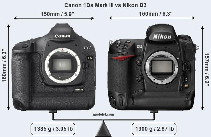Compare Canon 1Ds Mark III and Nikon D3