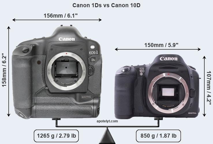 Compare Canon 1Ds and Canon 10D