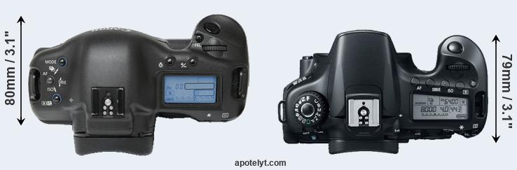 1Ds versus 60D top view