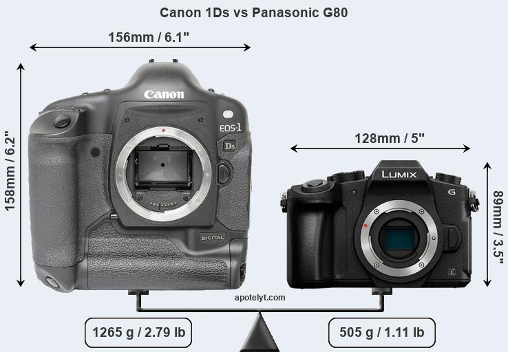 Compare Canon 1Ds and Panasonic G80