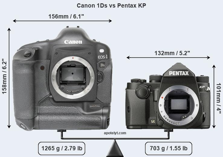 Compare Canon 1Ds and Pentax KP