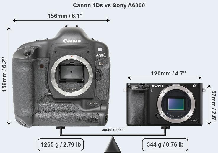 Compare Canon 1Ds and Sony A6000