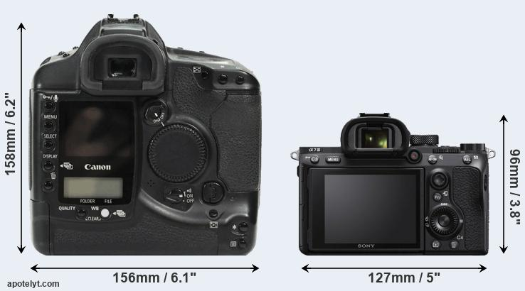 1Ds and A7 III rear side