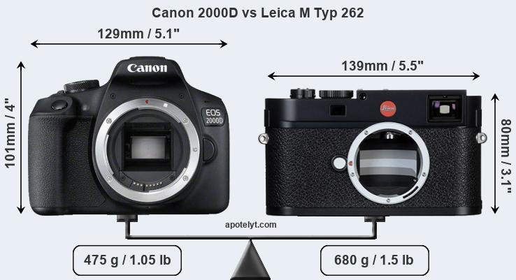 Compare Canon 2000D and Leica M Typ 262