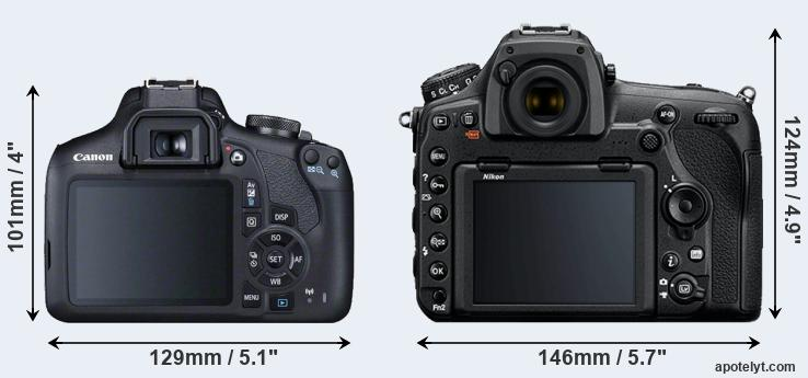 2000D and D850 rear side