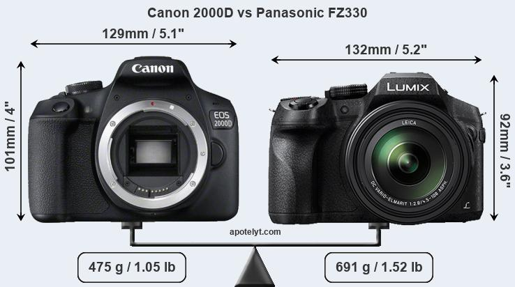 Compare Canon 2000D vs Panasonic FZ330