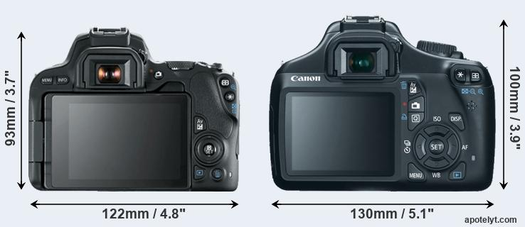 200D and 1100D rear side