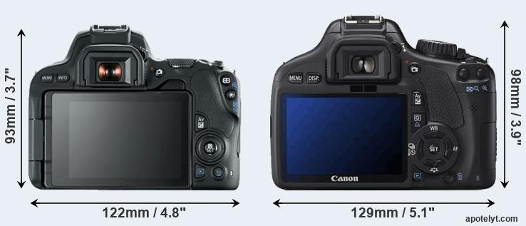 200D and 550D rear side