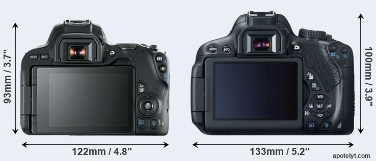 200D and 650D rear side