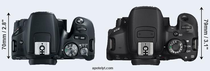 200D versus 650D top view
