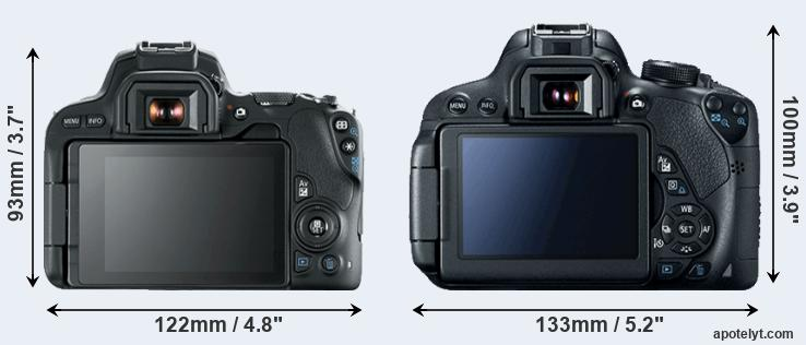 200D and 700D rear side